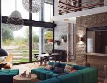 Uiteenlopende plafondlamp mogelijkheden voor een industrieel interieur