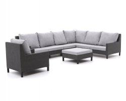 Hoek loungebanken van outdoor textiel