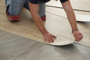 Zeil vloer voor in de keuken