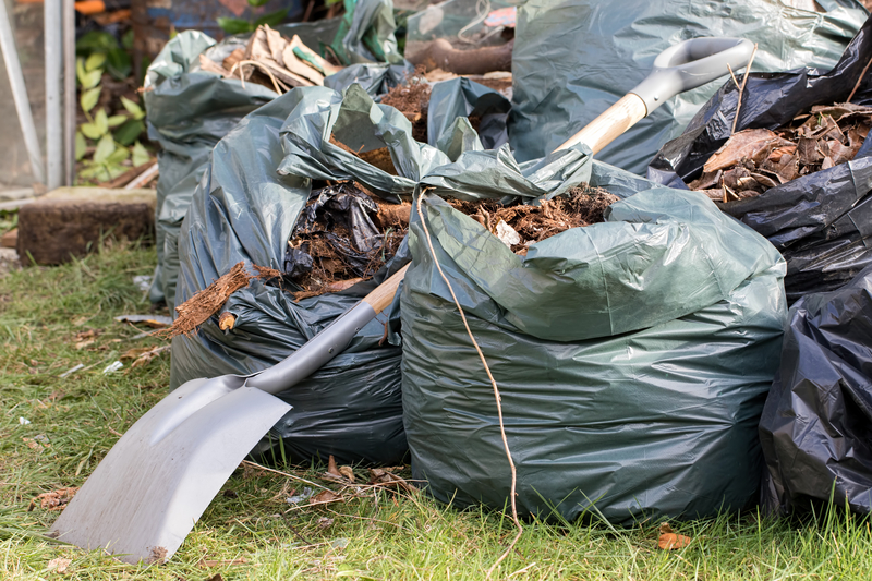 de tuin opruimen