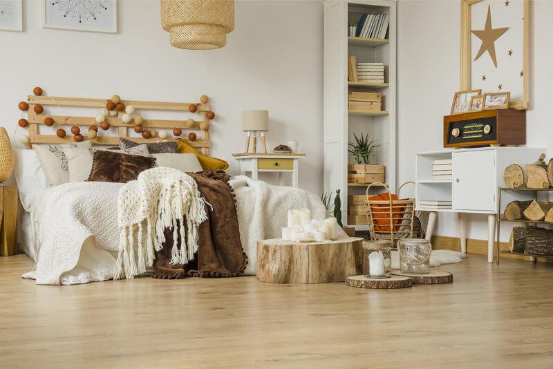 hout in de slaapkamers