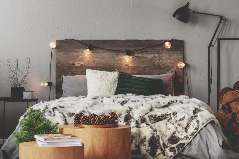 houten accessoires in de slaapkamer