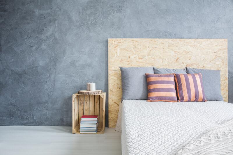 houten accessoires in slaapkamer
