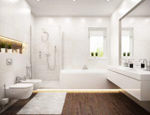 Een nis in de badkamer is niet alleen praktisch maar ook erg stijlvol
