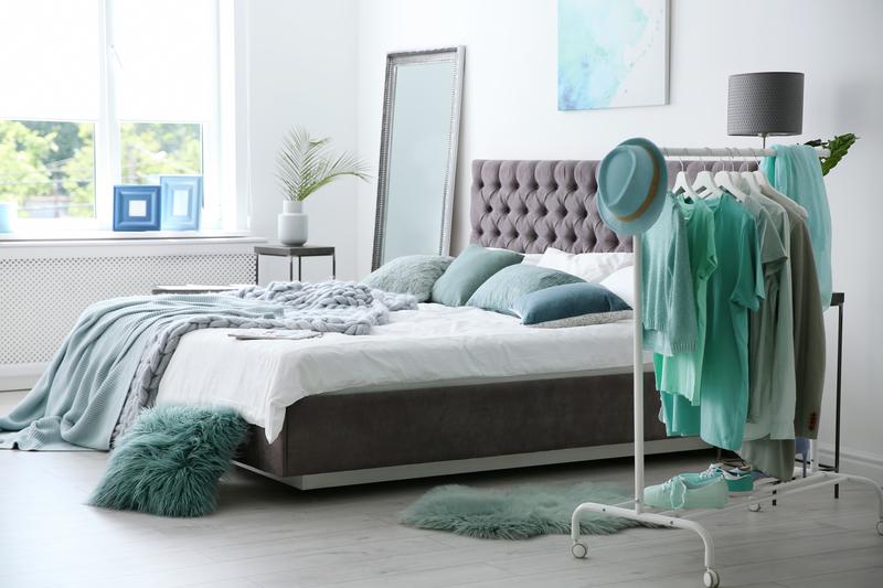 Mintgroen in de slaapkamer