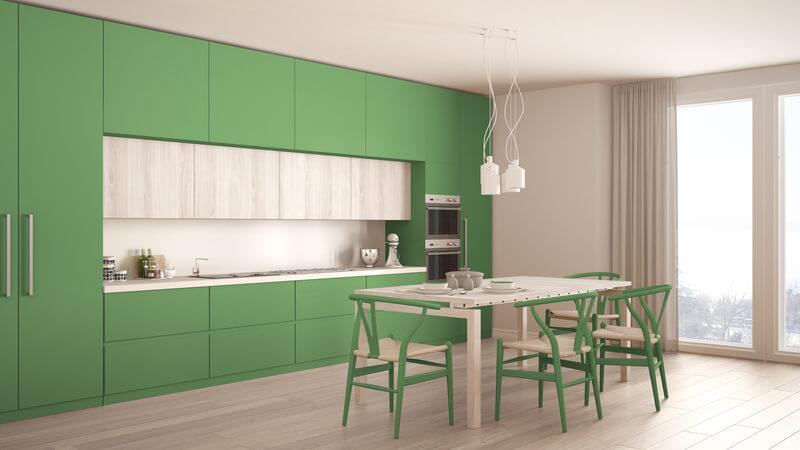 wat zijn trendy kleuren voor in de keuken
